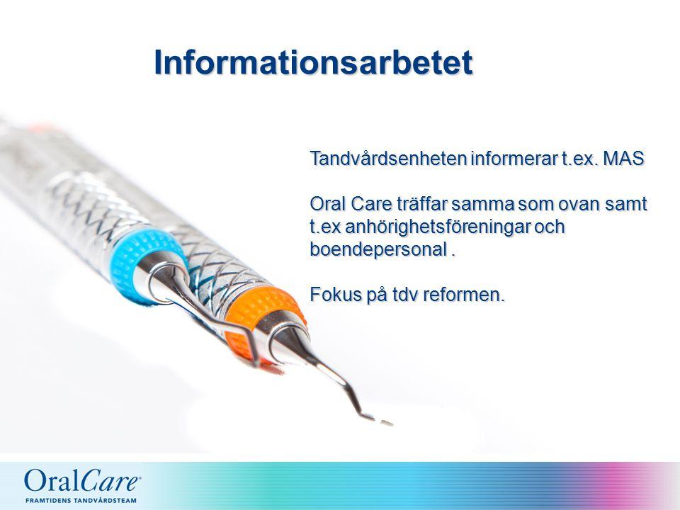 Informationsarbetet Tandvårdsenheten informerar t.ex.