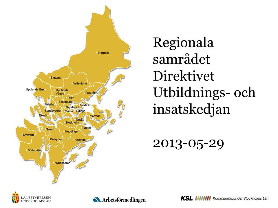 Direktivet Uppdragets huvudfokus är att förkorta den nyanländes väg till etablering genom att skapa en bättre samordning mellan kommunerna och Arbetsförmedlingen (Af) kring utbildning och insatser så att en fungerande sammanhängande utbildnings- och insatskedja skapas.
