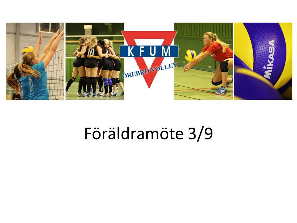 Föreningen Vi har 8 olika grupper: Div 1, 2, 3, Volley2000 (3 grupper), Kidsvolley och drop in.