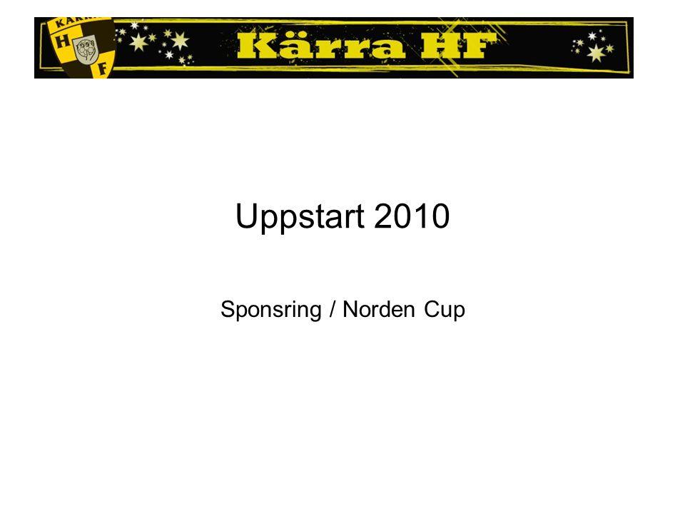 Uppstart 2010 Sponsring / Norden Cup