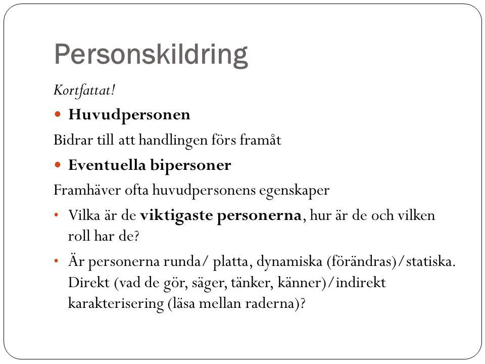 Personskildring Kortfattat.