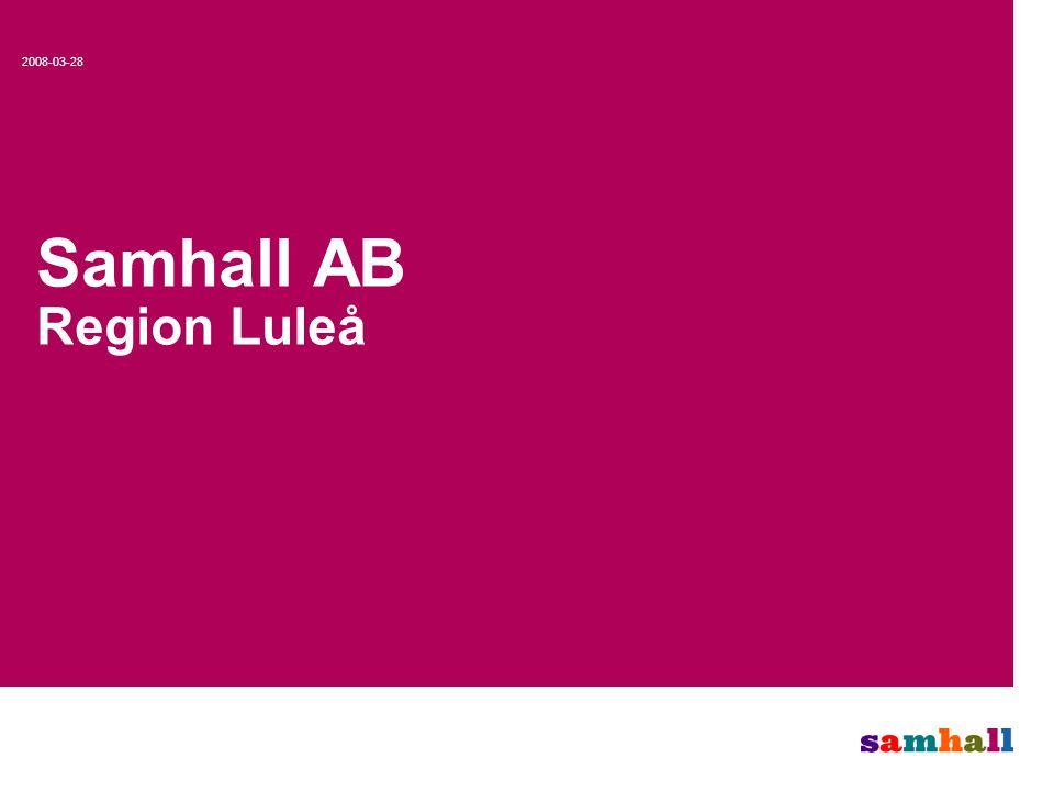 0 Samhall AB Region Luleå 2008-03-28