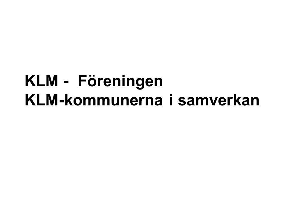 KLM - Föreningen KLM-kommunerna i samverkan