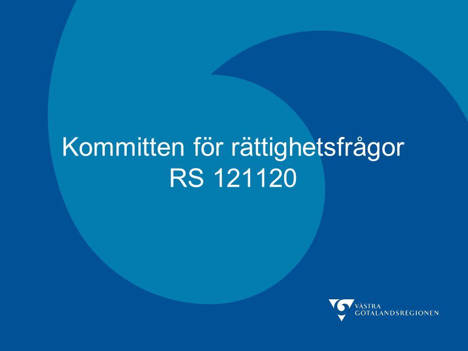 Kommitten för rättighetsfrågor RS 121120