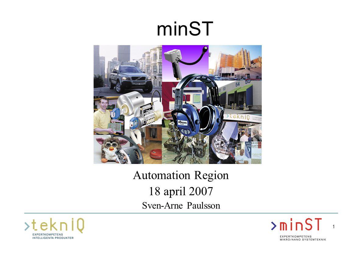 2 minST - EXPERTKOMPETENS MIKRO/NANO SYSTEMTEKNIK Företag och akademi i samverkan för ökad kompetens och lönsamhet