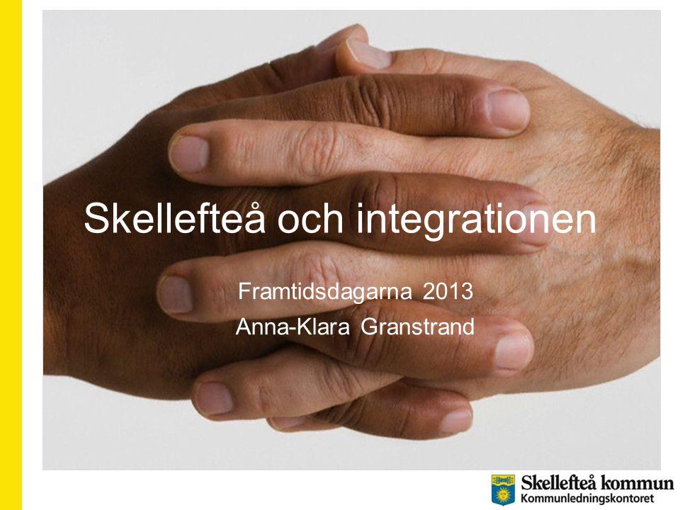 Skellefteå och integrationen Framtidsdagarna 2013 Anna-Klara Granstrand
