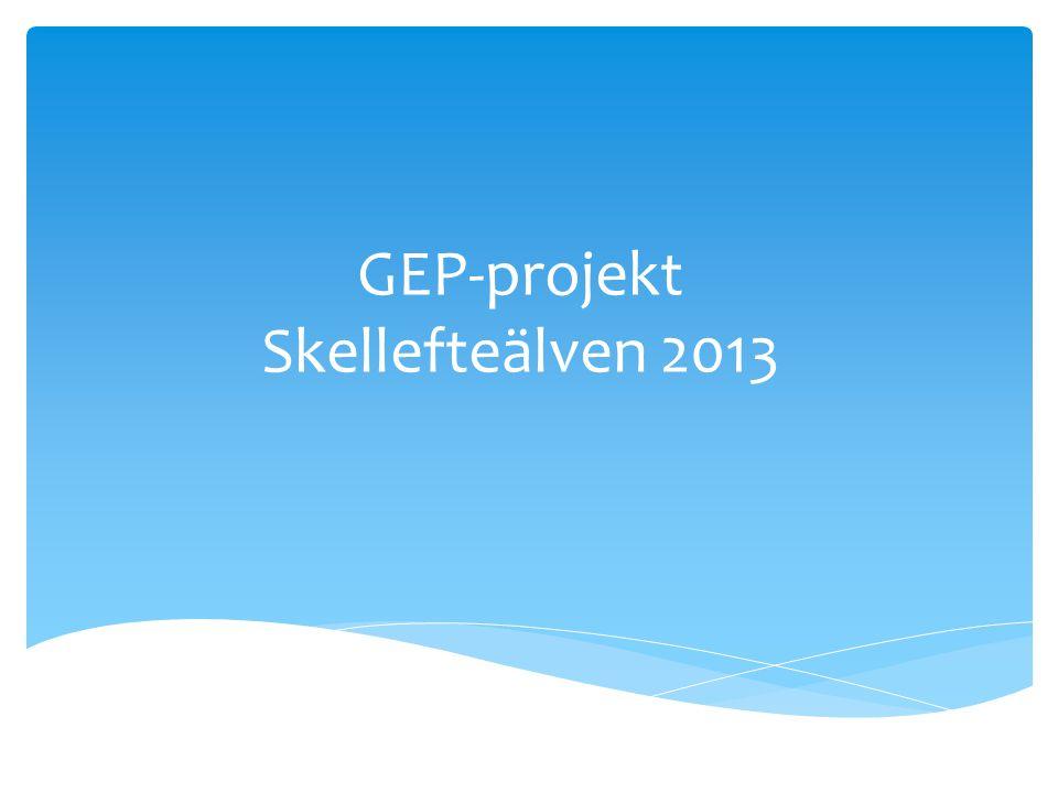 GEP-projekt Skellefteälven 2013