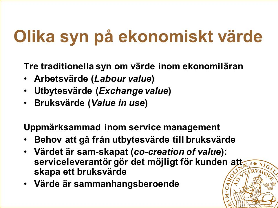 Avfallsbolagen skapar andra typer av värde Folkhälsovärde Praktiskt värde Miljövärde Juridiskt värde Ekonomiskt värde Politiskt / symboliskt värde Kunskaps- och innovationsvärde