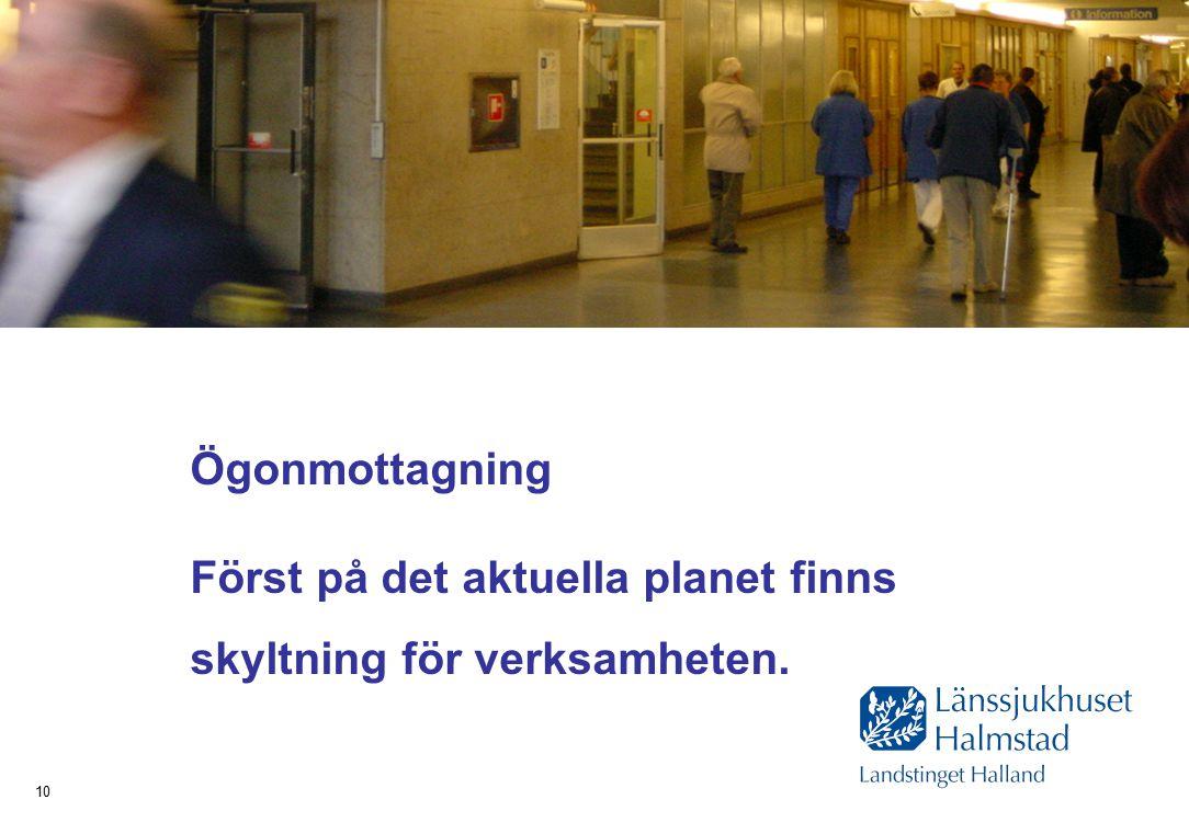 Hälsa Sjukvård Tandvård 10 Ögonmottagning Först på det aktuella planet finns skyltning för verksamheten.
