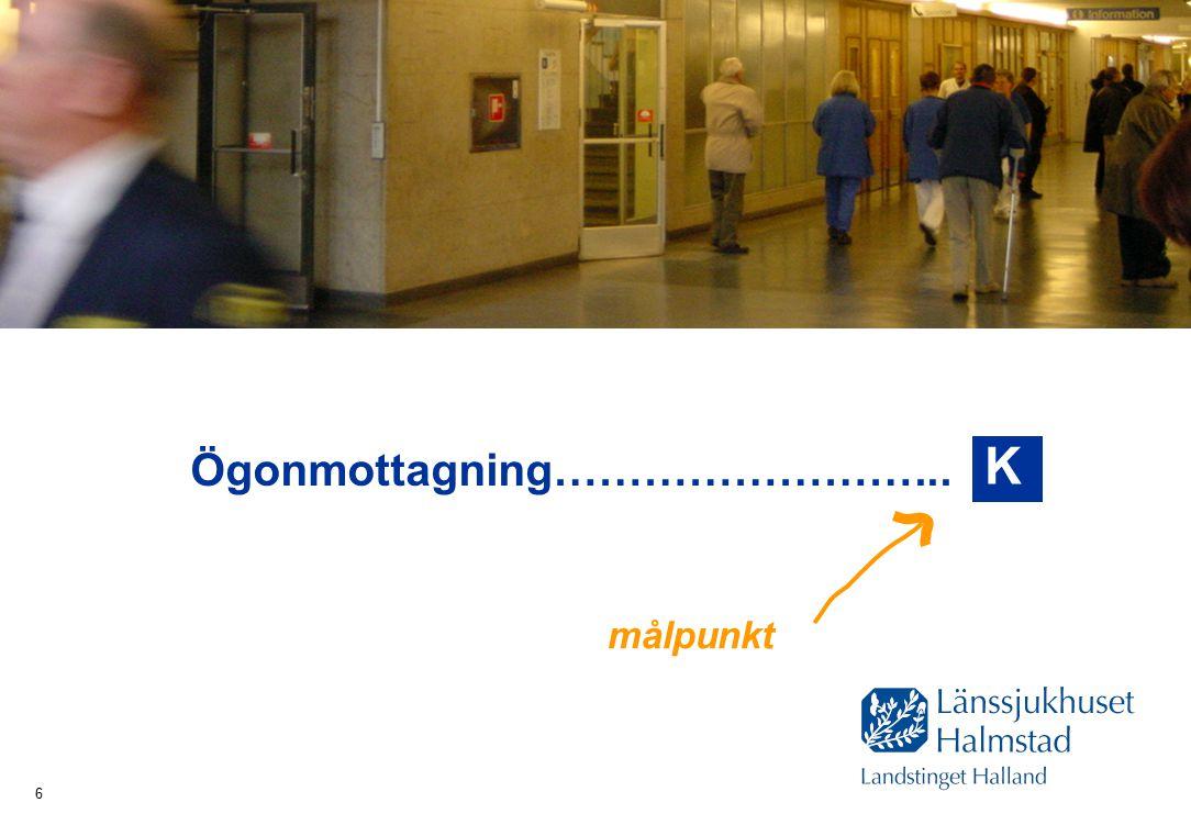 Hälsa Sjukvård Tandvård 6 Ögonmottagning……………………... K målpunkt