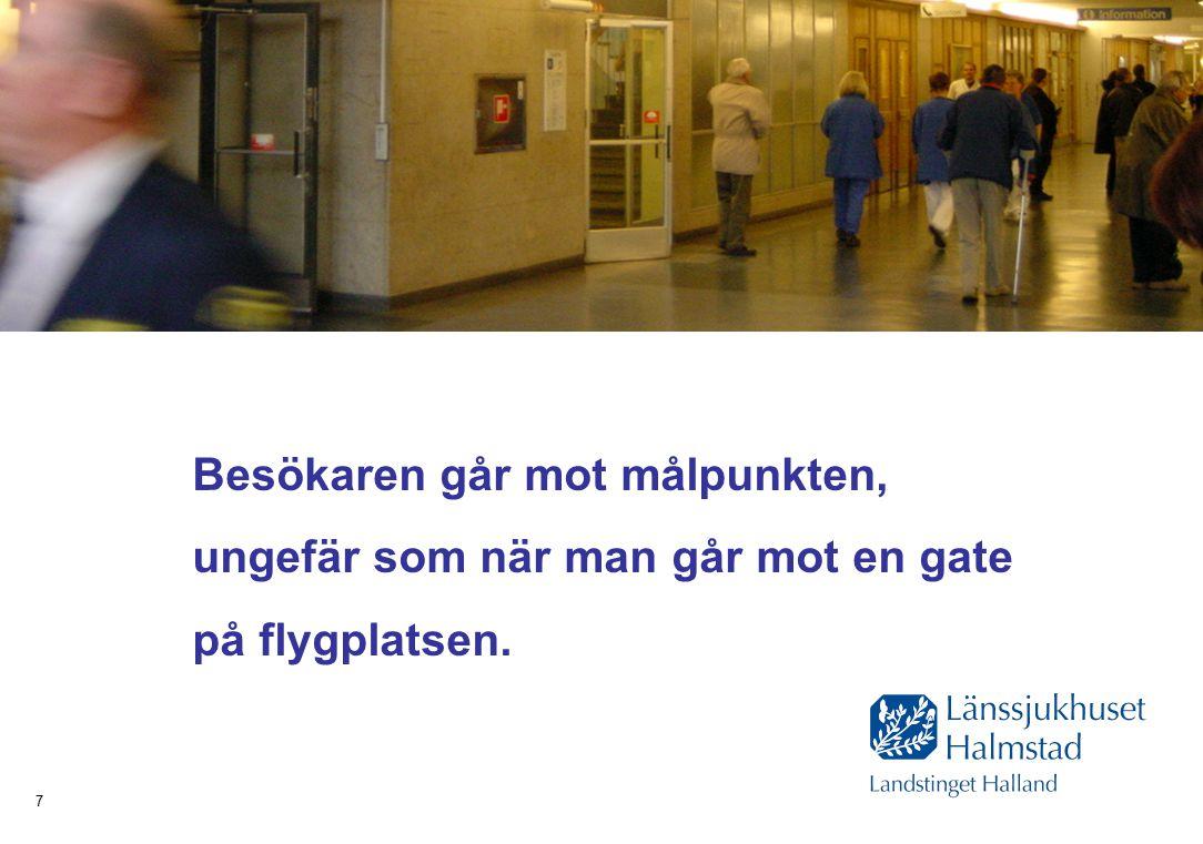 Hälsa Sjukvård Tandvård 7 Besökaren går mot målpunkten, ungefär som när man går mot en gate på flygplatsen.