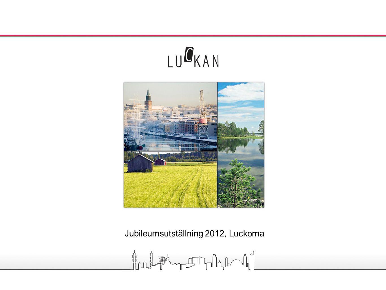 Utställningen om Luckorna - omfattning och utseende Tillsammans med Svenska centralarkivet skapar Luckorna en utställning omfattande 10 vepor (rollups), en per ort, en för historia och en för koncept och projekt.