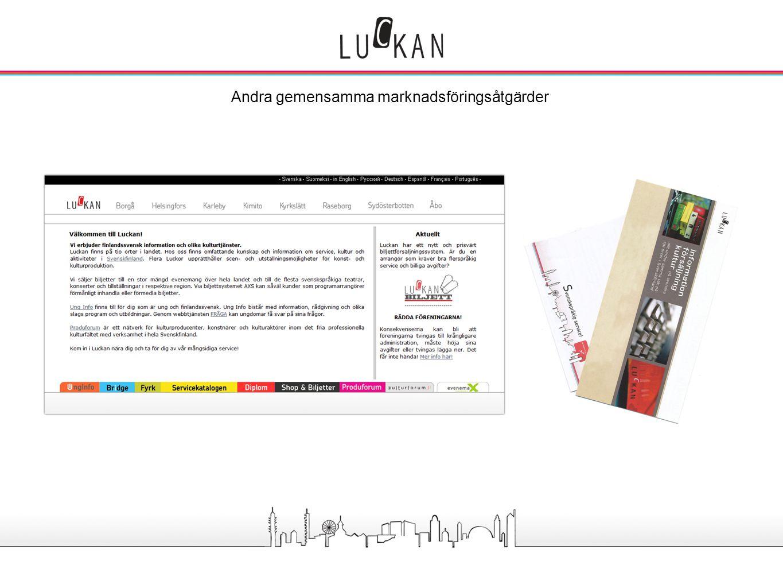 - Uppdatering av gemensam broschyr - Utveckling av webbsidorna - Luckan shop, ny webb.