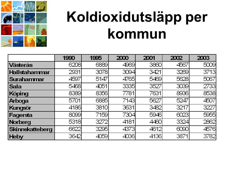 Koldioxidutsläpp per kommun