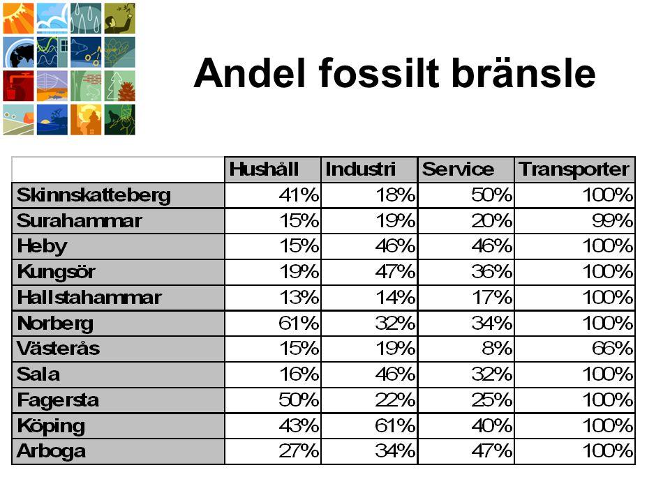 Andel fossilt bränsle