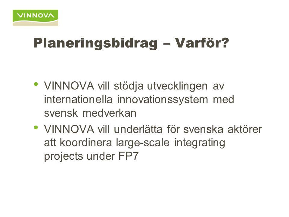 Planeringsbidrag – För Vem.