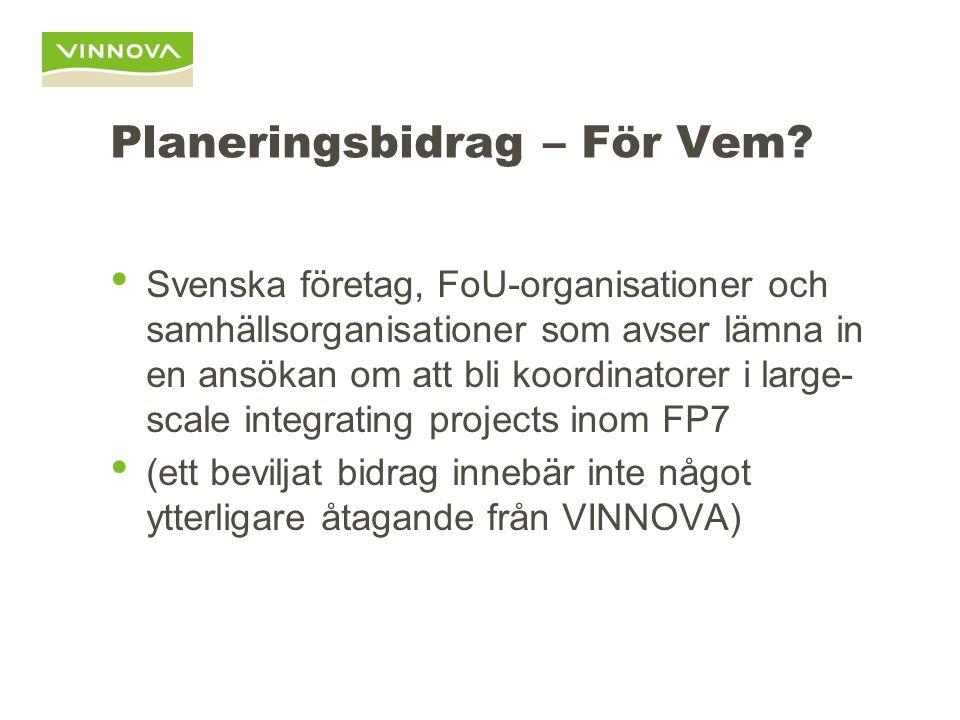 Planeringsbidrag För Vad.