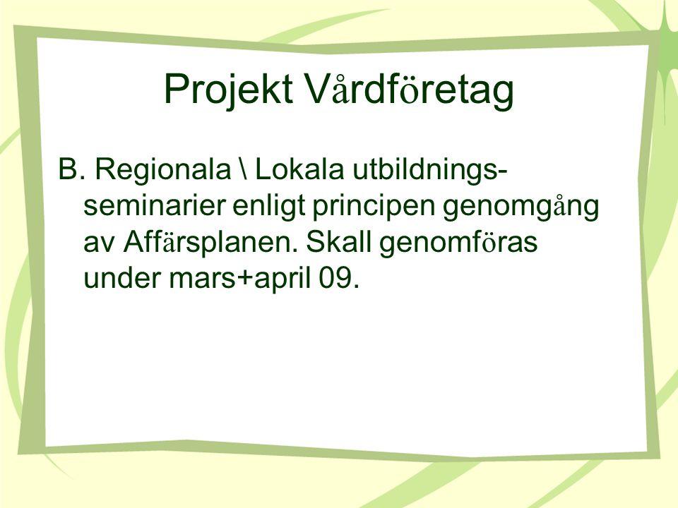 Projekt V å rdf ö retag B.