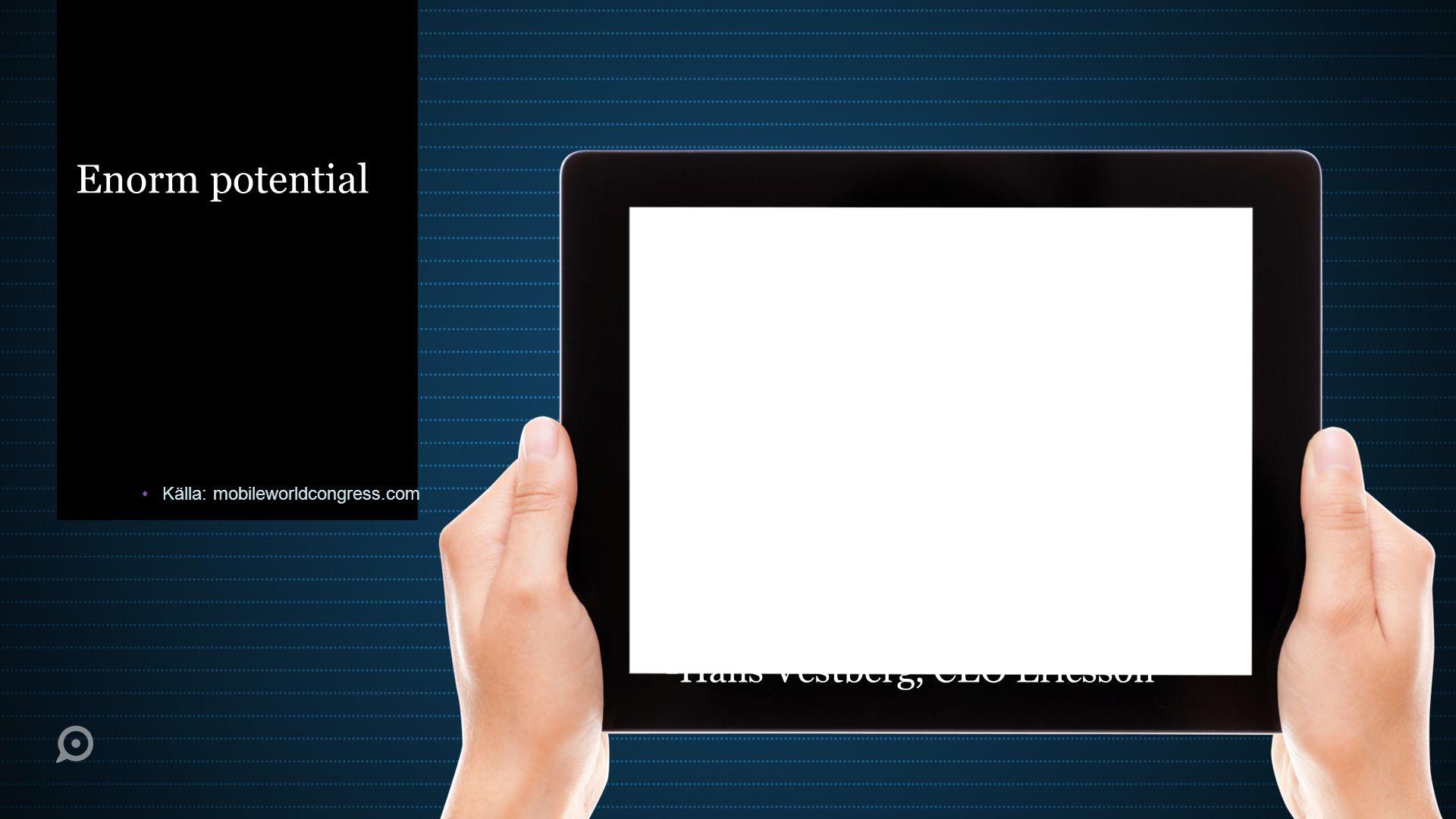 Handlat med en smartphone Källa: ourmobileplanet.com
