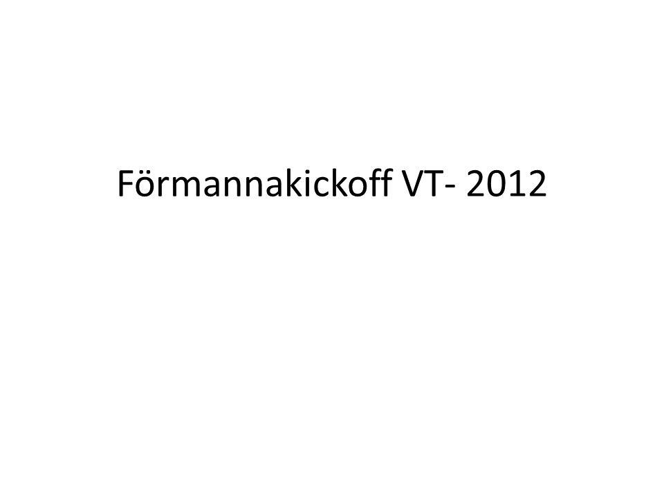 Förmannakickoff VT- 2012
