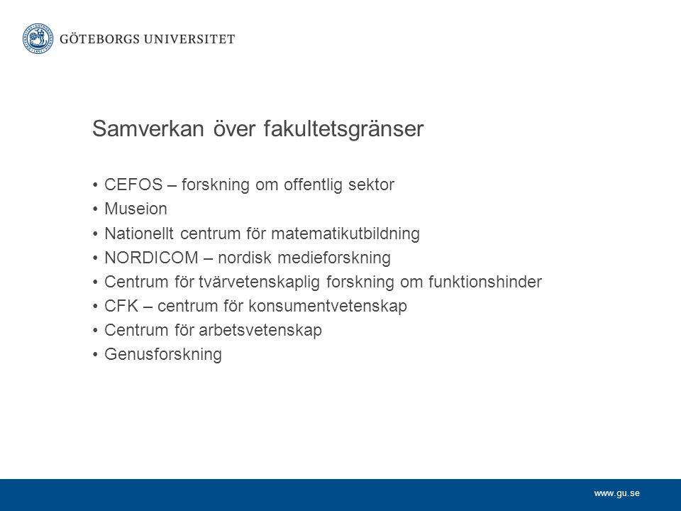 www.gu.se För en hållbar utveckling Göteborgs universitet arbetar aktivt med att föra in hållbar utveckling i utbildningen inom alla discipliner I täten med forskning om miljöekonomi Miljöcertifierat enligt ISO 14001 och EMAS Miljöforskning på ett populärvetenskapligt sätt på miljöportalen – miljoportalen.se En stor del av forskningen inom miljö och hållbar utveckling i Sverige sker i Göteborg.