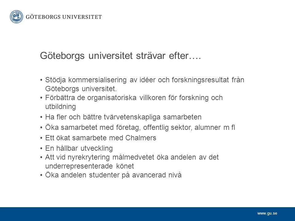 www.gu.se I jämförelse med andra lärosäten… Vi tog ett stort steg uppåt i Times Higher Educations årliga rankning av världens universitet, från 258:e plats till 185:e.