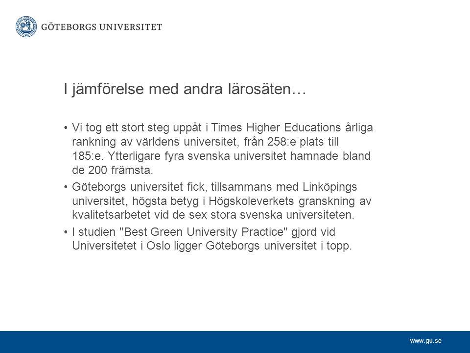 www.gu.se Internationalisering Göteborgs universitet ska ha en tydlig internationell profil och det internationella perspektivet eftersträvas i all forskning och utbildning.