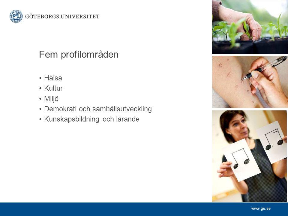 www.gu.se Starka forskningsmiljöer – några exempel LinCS (Lärande, interaktion och medierad kommunikation i det moderna samhället).