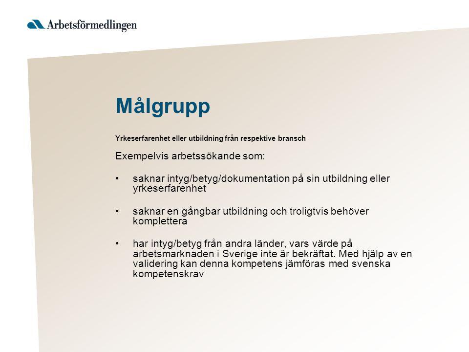 har behov av arbetsväxling till annat yrke och behöver bekräfta befintlig kompetens som kan vara användbar inom alternativa yrkesområden har viss erfarenhet men kanske inte använt sina kunskaper under de senaste åren har någon form av körkort/kompetensbevis för Yrkesförare/Bussförare eller har körkort/intyg från andra länder, vars värde på arbetsmarknaden i Sverige inte är bekräftat eller godkänt utförsäkrade från försäkringskassan samt personer med funktionsnedsättning