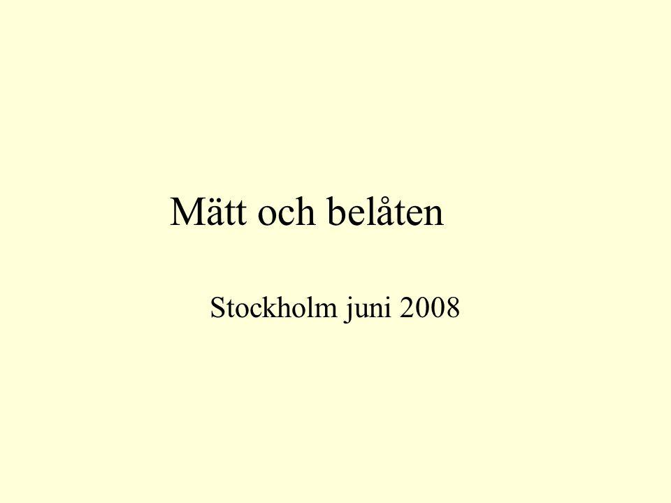 Mätt och belåten Stockholm juni 2008
