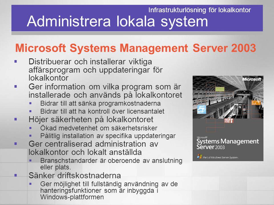 Administrera lokala system  Distribuerar och installerar viktiga affärsprogram och uppdateringar för lokalkontor  Ger information om vilka program s