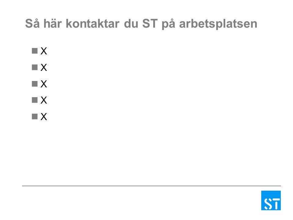 Så här kontaktar du ST på arbetsplatsen X