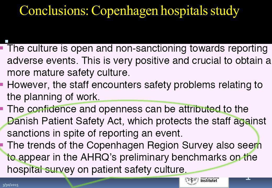 Conclusions: Copenhagen hospitals study .. 31 3/30/2015