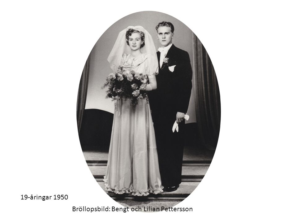 19-åringar 1950 Bröllopsbild: Bengt och Lilian Pettersson