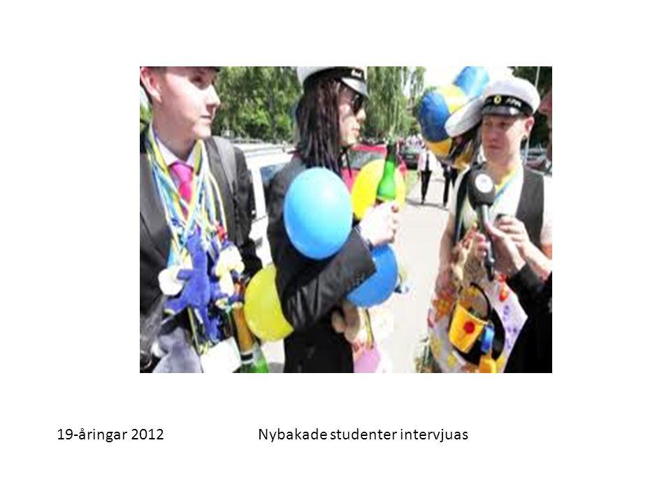 19-åringar 2012Nybakade studenter intervjuas