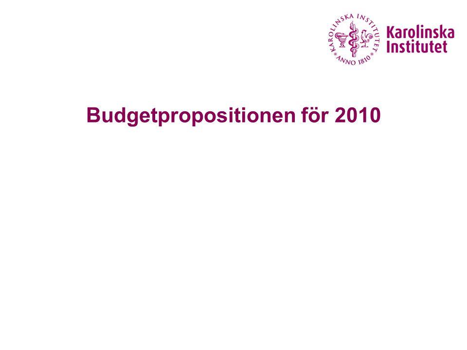 Budgetpropositionen för 2010