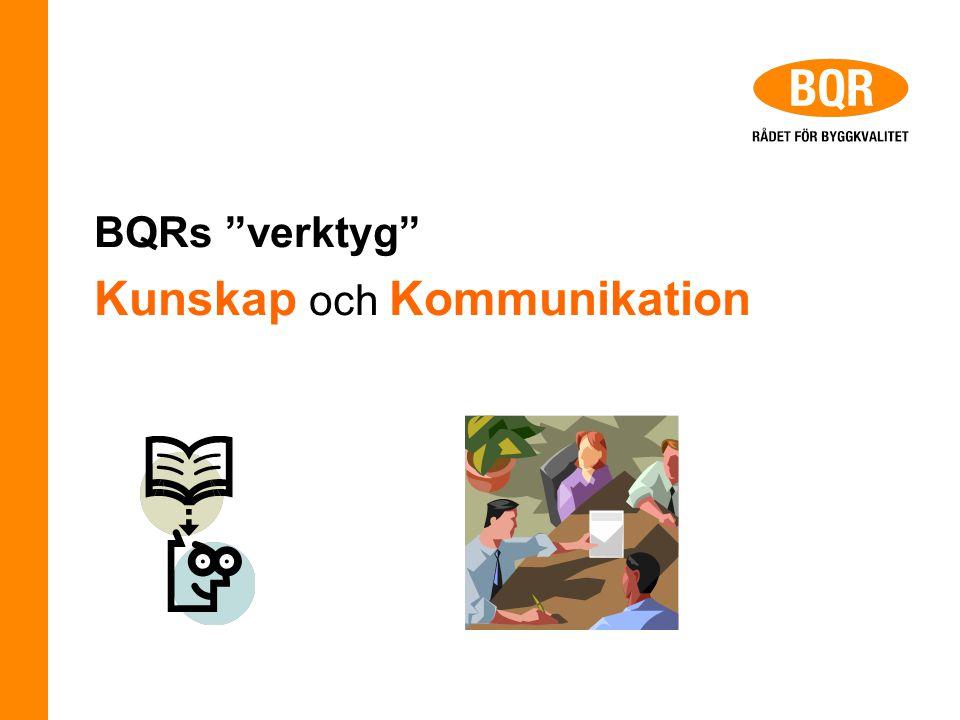 """BQRs """"verktyg"""" Kunskap och Kommunikation"""