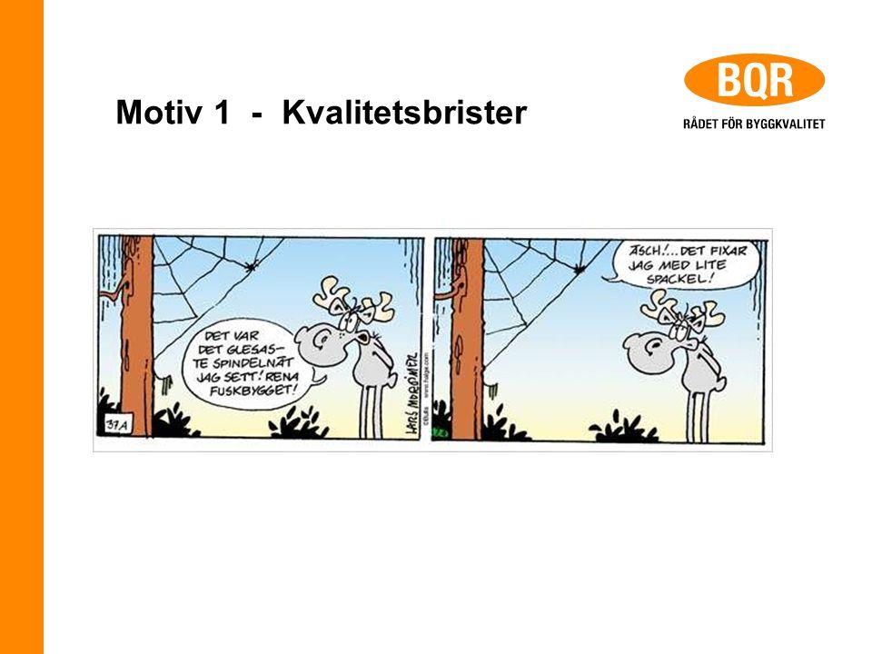 Motiv 1 - Kvalitetsbrister