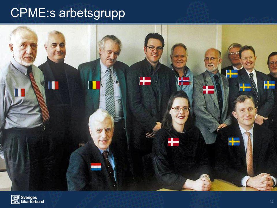 14 CPME:s arbetsgrupp