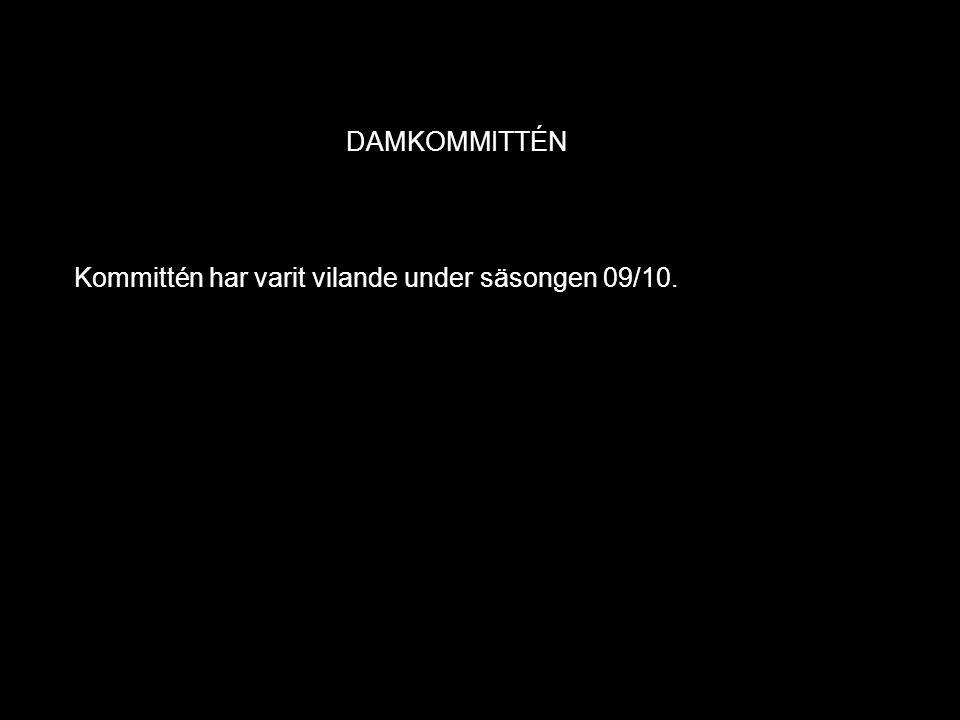 DAMKOMMITTÉN Kommittén har varit vilande under säsongen 09/10.