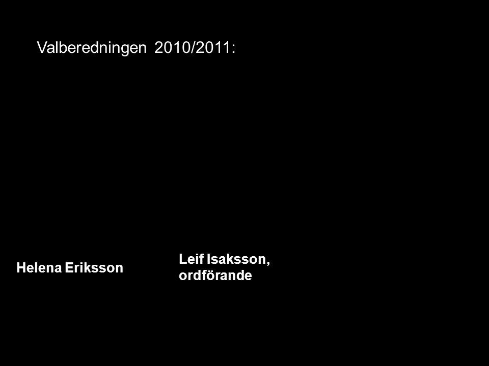 Valberedningen 2010/2011: Helena Eriksson Leif Isaksson, ordförande