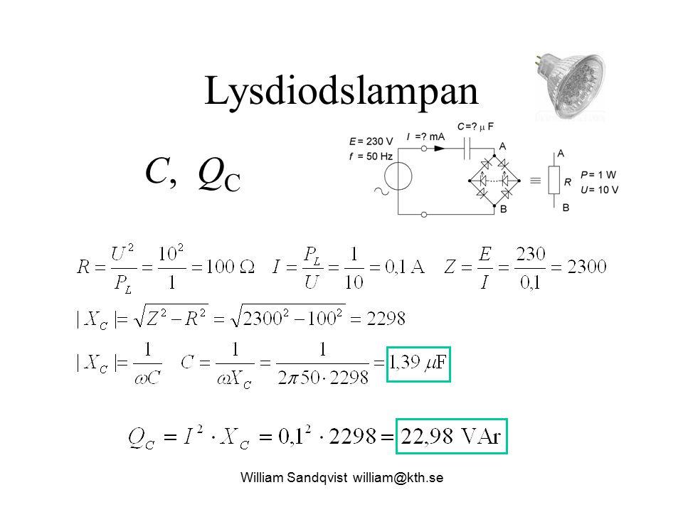 Lysdiodslampan C, Q C William Sandqvist william@kth.se