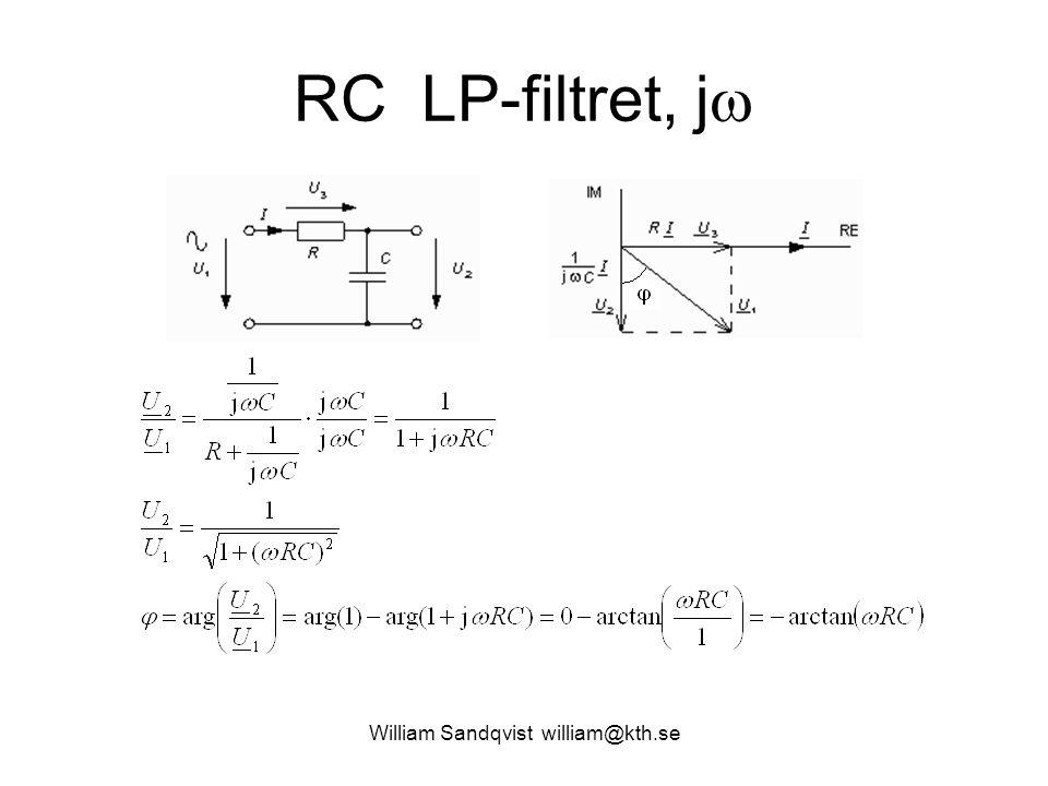 William Sandqvist william@kth.se RC LP-filtret, j 