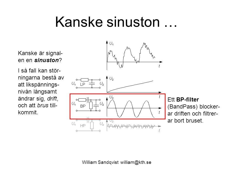 William Sandqvist william@kth.se Wienbryggan U 1 och U 2 är i fas om överföringsfunktionens imaginärdel är 0.
