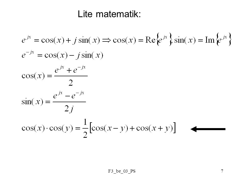 F3_be_03_PS7 Lite matematik: