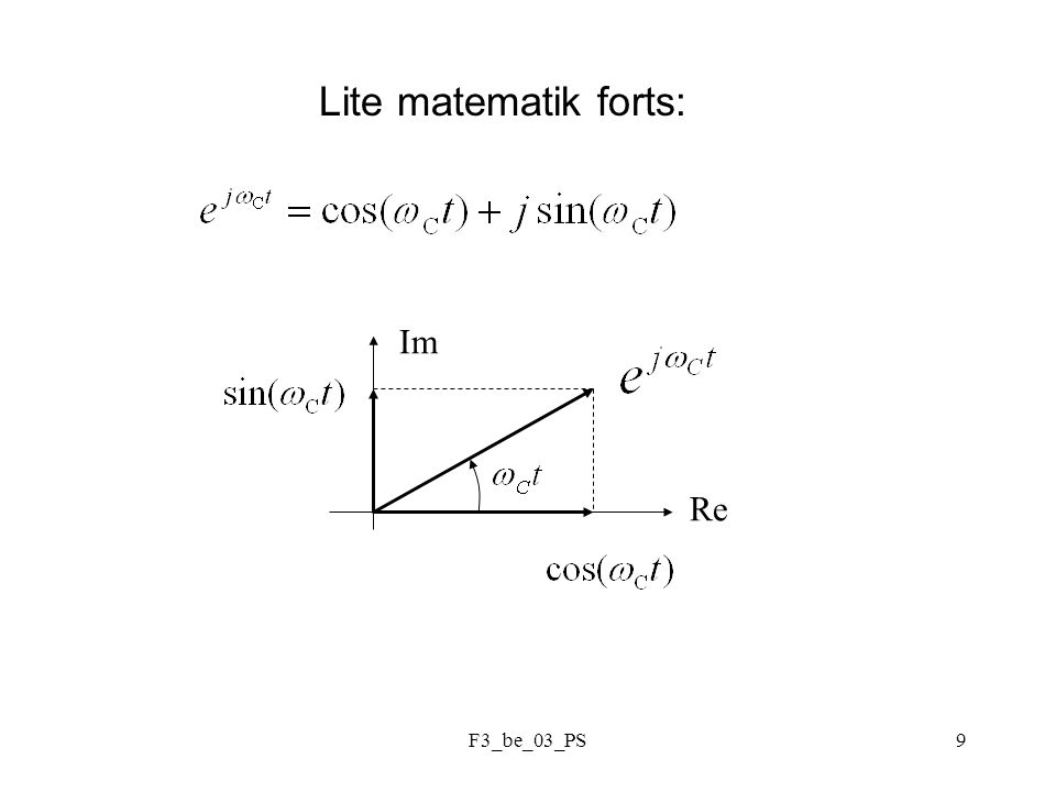 F3_be_03_PS9 Lite matematik forts: Re Im