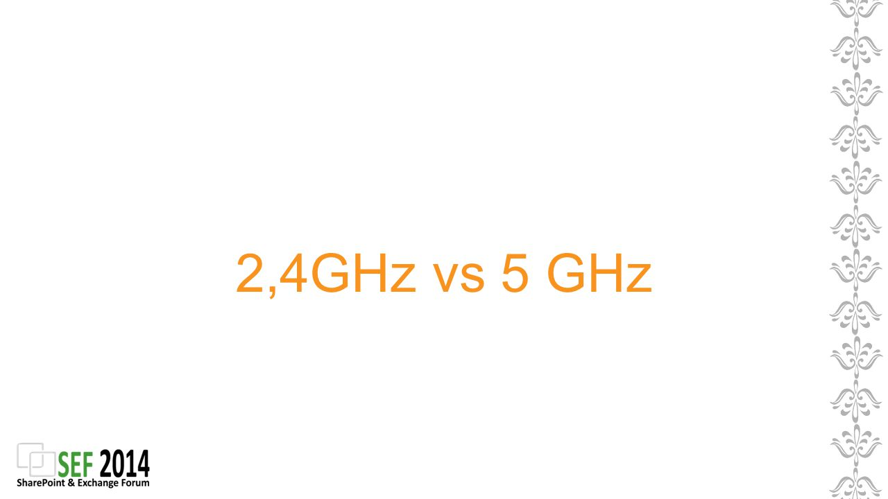 2,4GHz vs 5 GHz
