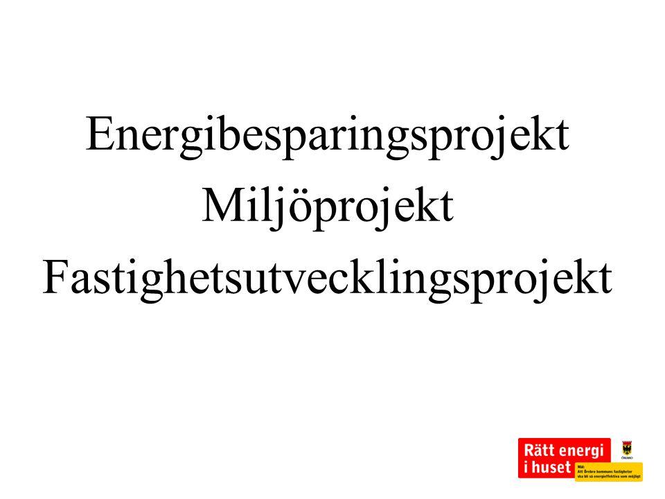 Energibesparingsprojekt Miljöprojekt Fastighetsutvecklingsprojekt