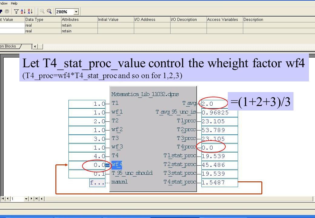 copyright (c) 2011 Stefan Rudbäck, Matematica,+46 708387910, mail@matematica.se, matematica.se sid 46 Let T4_stat_proc_value control the wheight facto