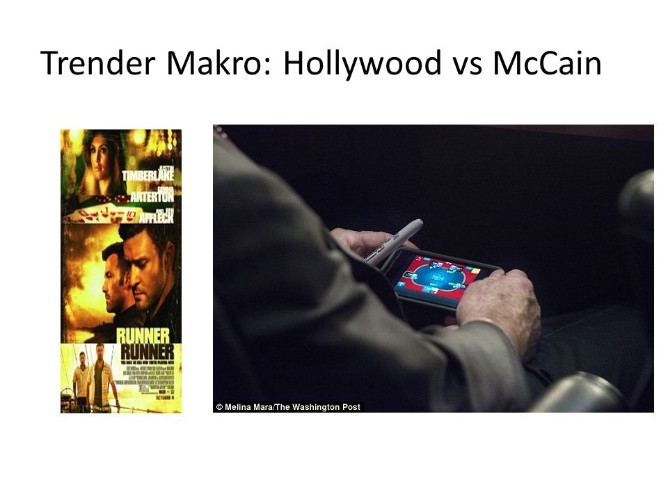Trender Makro: Hollywood vs McCain